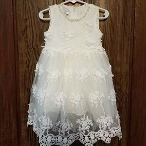 Trish Scully lace flower girl dress